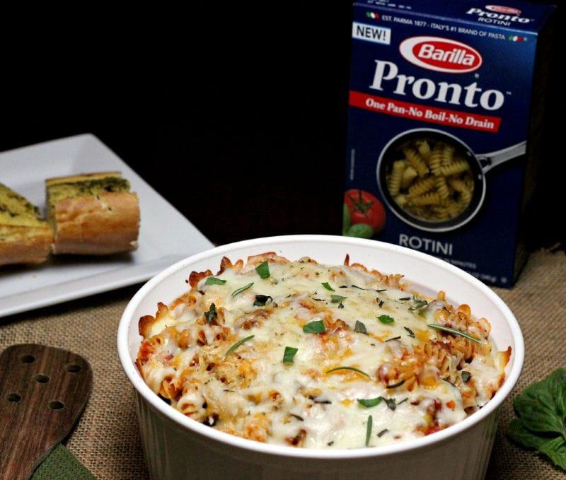 Barilla Pronto Pasta with Cheesy Pasta Bake