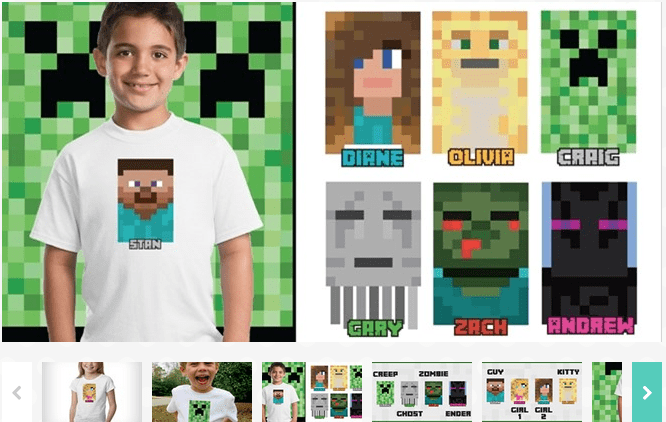 Character Inspired Transfers $4.99 (Minecraft)