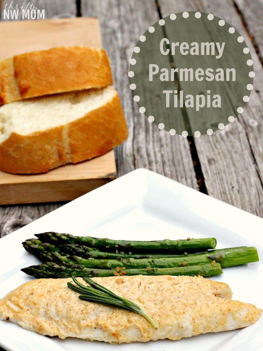 Creamy Parmesan Tilapia