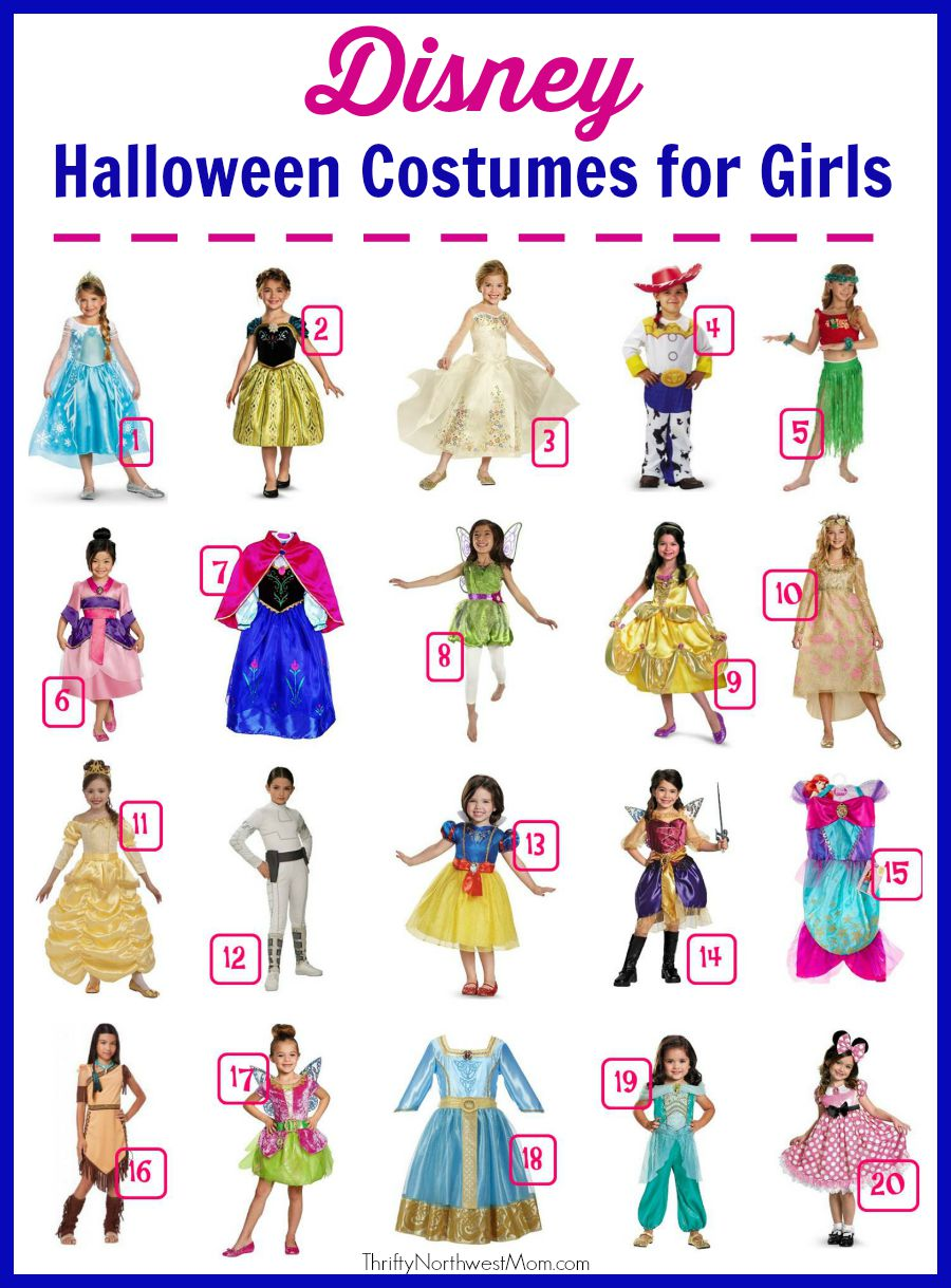 disney halloween costumes for girls