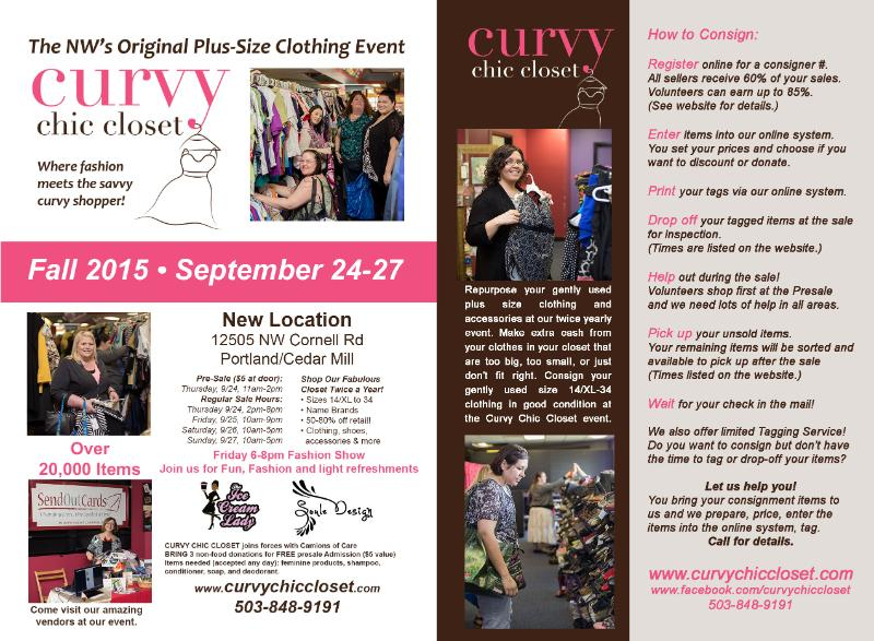 Curvy Chic Closet – NW's Original Plus Size Event Coming Up! (Enter to Win $50 Shopping Certificate)!
