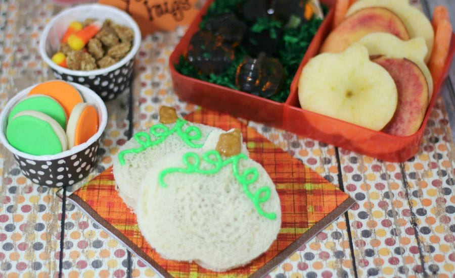Fall Bento Lunch with Pumpkins