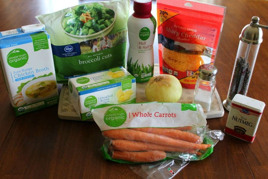 Ingredients for Broccoli Cheese Soup