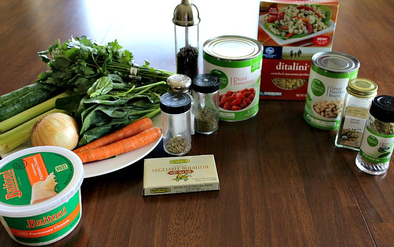 Ingredients for Olive Garden Minestrone Soup
