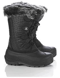 Kamik Girl's Snowgypsy 10'' Black Waterproof Winter Boot