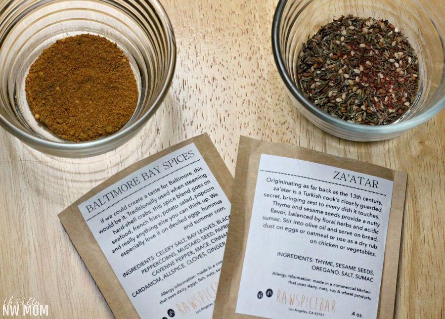 RawSpiceBar spice blends
