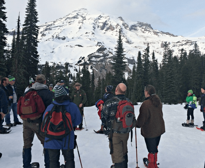 Ranger Led Snowshoe Tour at Mount Rainier