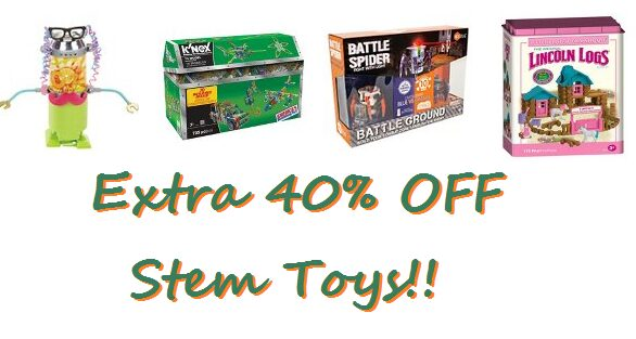 40% Off Stem Learning Toys Today Only!