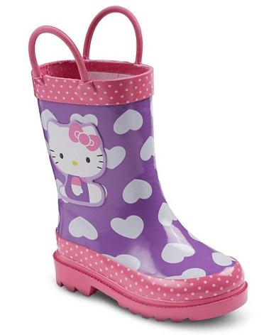 Toddler Girl's Hello Kitty Rain Boots $14.98!