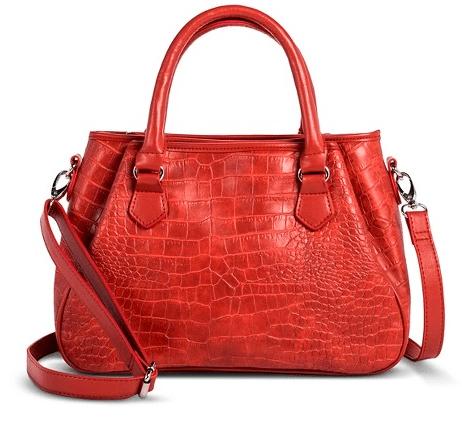 Women's Alligator Texture Satchel Handbag $14.98 (Reg $29.99)