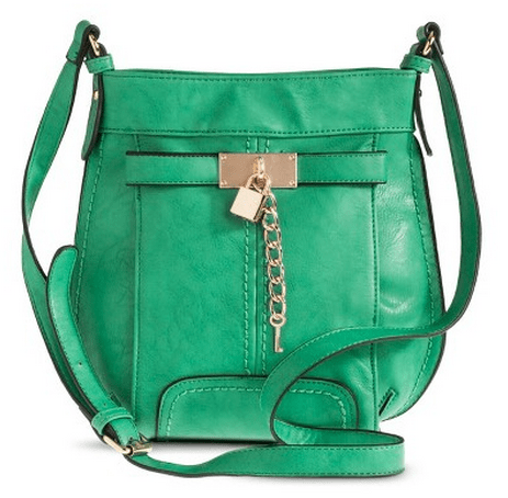 Women's Crossbody Handbag with Lock Detail