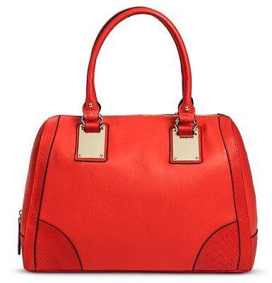 Women's Gold Hardware Satchel Handbag $13.98 (Reg $39.99)