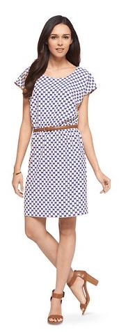 Women's Printed Crepe Easy Waist Dress Merona $8.38 (Reg $27.99)