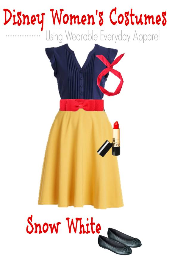 Here is how to make a DIY Disney Snow White Costume for Women using your own clothes or items you can buy and wear again in regular life  sc 1 st  Thrifty NW Mom & DIY Snow White Costume (Using Regular Clothes You Can Wear Again ...