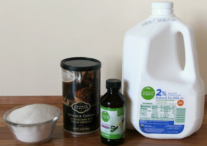 Ingredients for Starbucks Hot Chocolate Recipe
