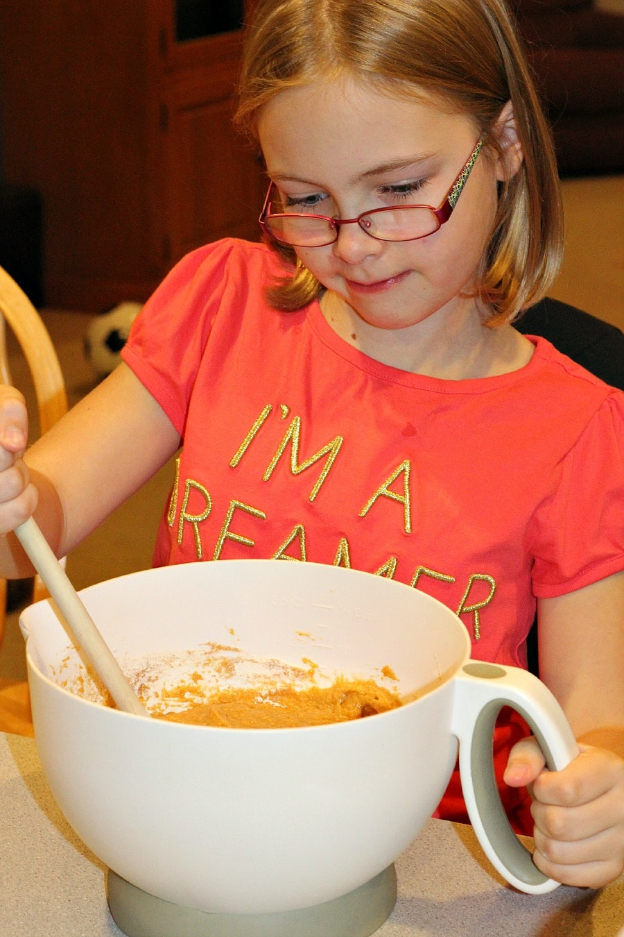 Kids Helping Make Pumpkin Spice Bread