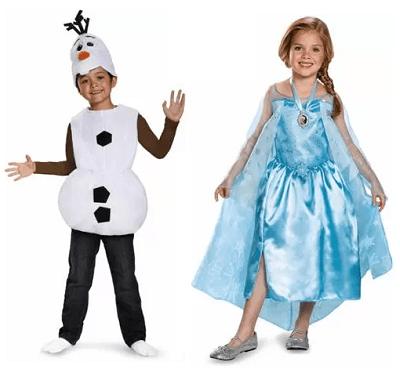 Olaf And Elsa Costumes