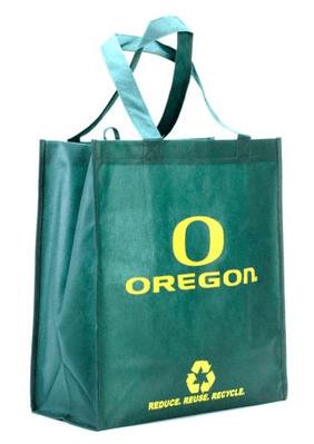 Oregon Ducks Green Reusable Tote Bag