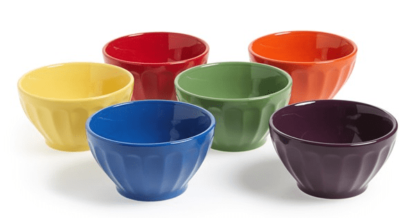 Signature Housewares Fluted Bowls (Set Of 6) $15.98 Shipped (Reg $32)