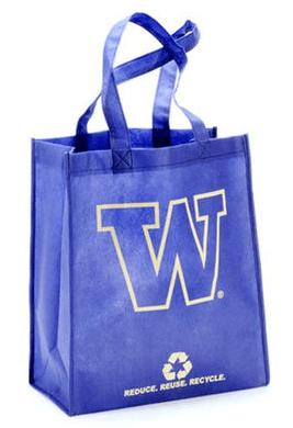 Washington Huskies Purple Reusable Tote Bag