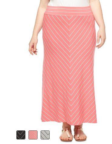 Women's Plus Size Maxi Skirt -Ava & Viv
