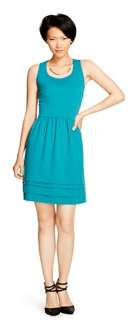 Women's Ponte Fit and Flare Dress