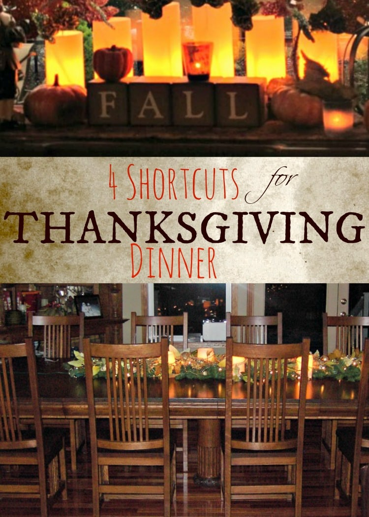 4 shortcuts for thanksgiving dinner