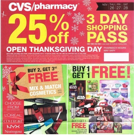 CVS Black Friday Deals for 2016 – Tons of Freebies such as 2 liters of soda, Green Giant Veggies, Leggings & more!