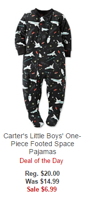 Carter's Little Boys' One-Piece Footed Space Pajamas