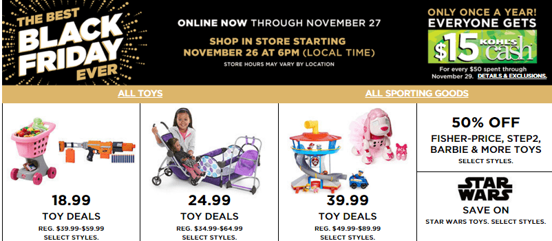 Kohls black friday toy deals