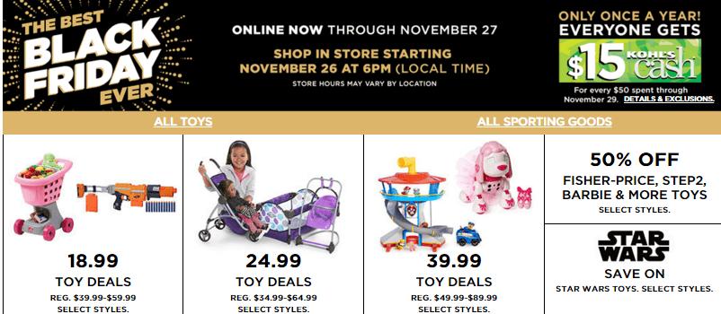 Kohls black friday toy deals