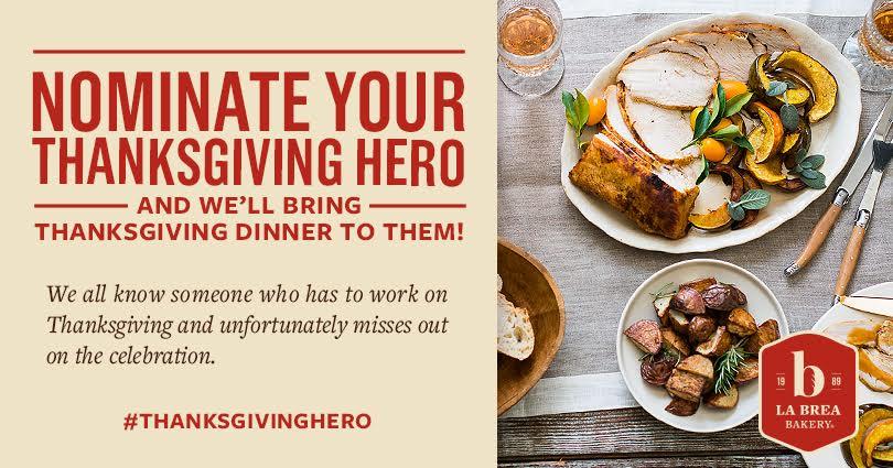 La Brea Bakery Thanksgiving Hero Contest