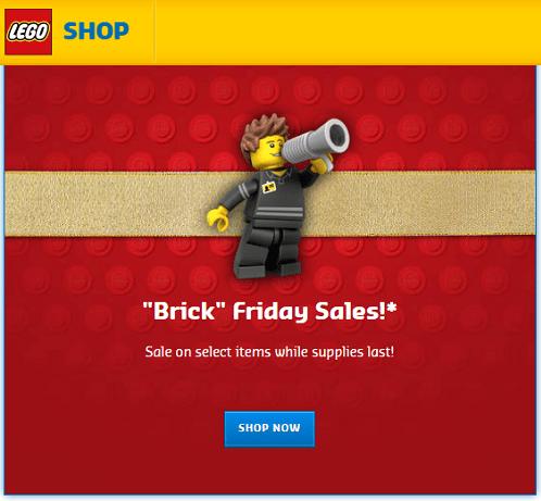 Lego Store Black Friday Sale