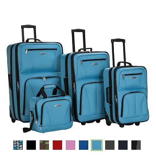 Rockland 4-Piece Wheeled Luggage Set As Low As $53.80 After Stacked Coupons & Kohl's Cash (Reg $239.99)
