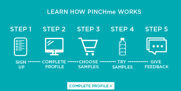PINCHme Steps to Sign up for Free Samples