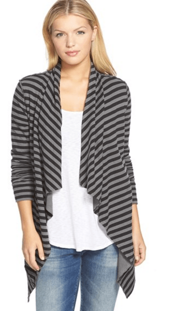Caslon Striped Cardigan