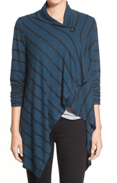 Bobeau Fuzzy Fleece Cardigan