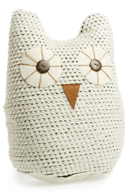 Knit Owl Accent Pillow
