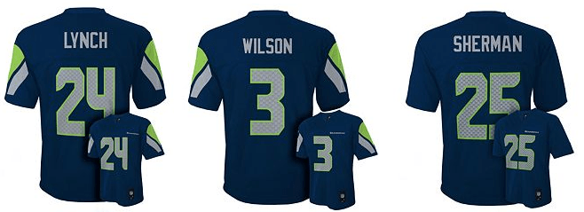 Seattle Seahawks Kids Jersey