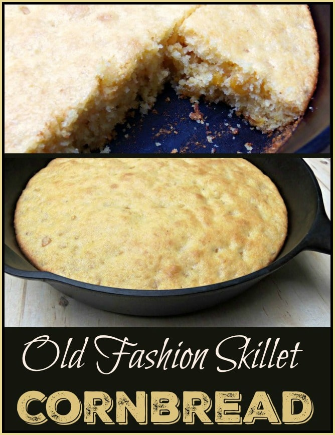 Old Fashioned Skillet Corn Bread Recipe