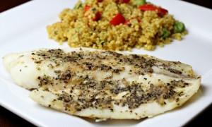 Tilapia with Veggie Quinoa Medley