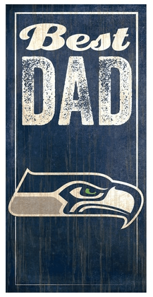 NFL Seahawks Best Dad Sign