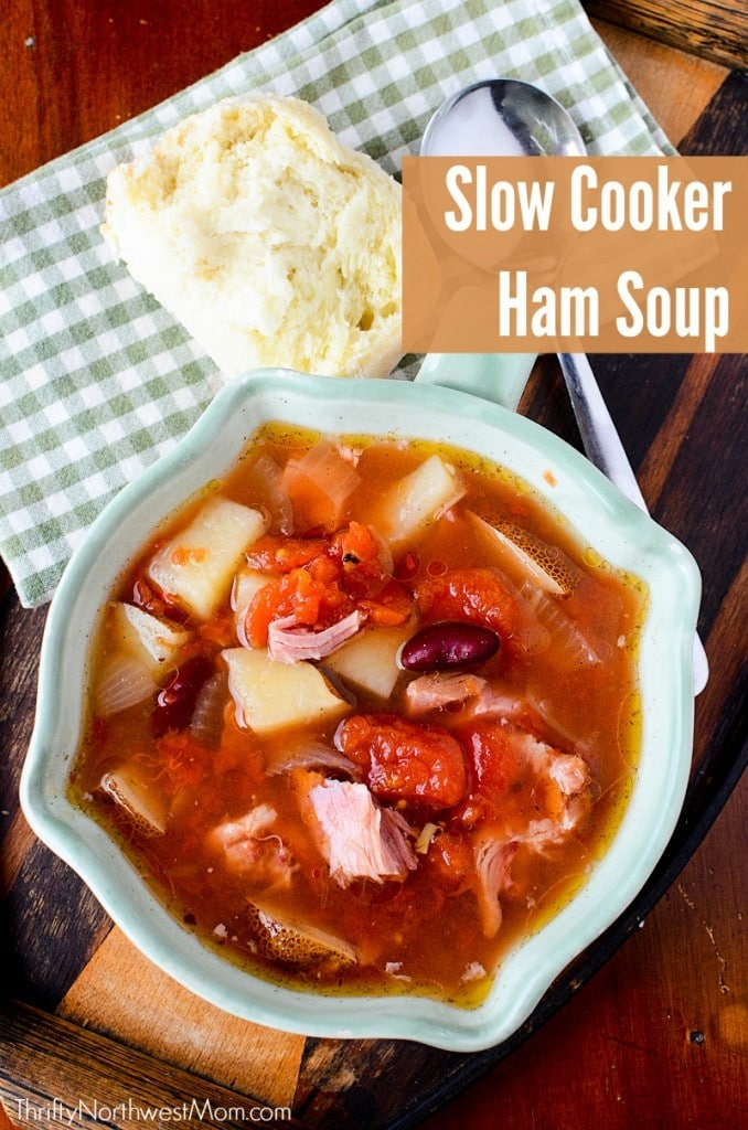 Slow Cooker Ham and Bean Soup – Using Leftover Ham