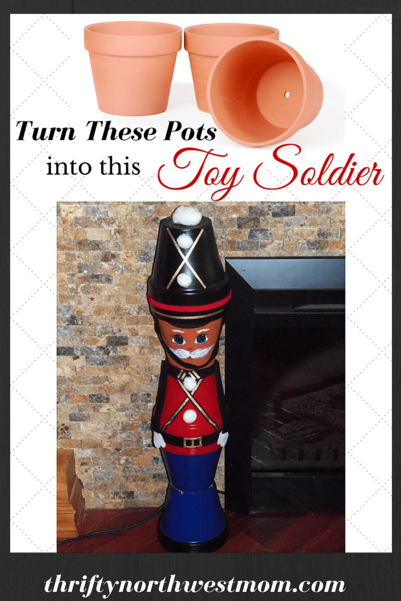 Toy Soldiers Made From Clay Pots Diy Christmas Decor Or