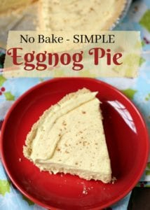 No Bake Eggnog Pie