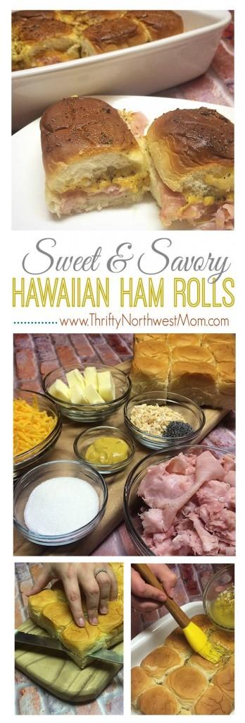 Hawaiian Sweet Ham and Cheese Rolls / Sandwiches Recipe!