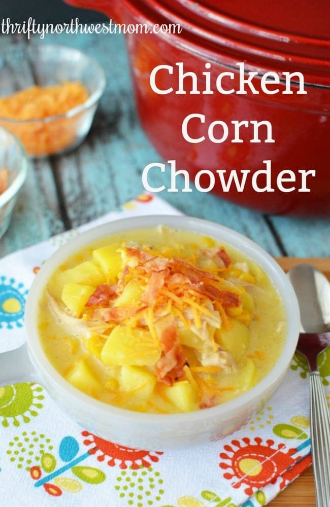 Potato, Chicken and  Corn Chowder – Delicious with Side Delight Potatoes!