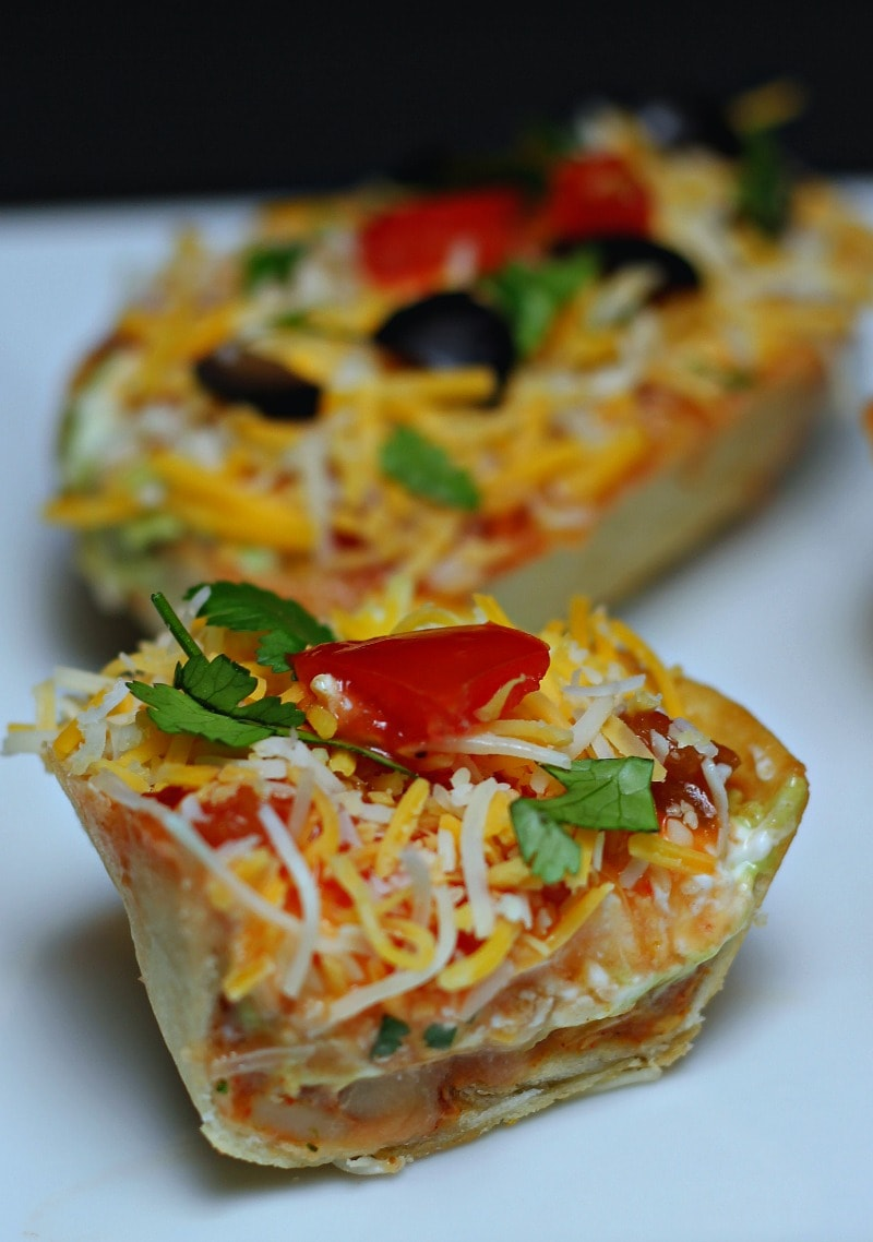 Mexican Layered Dip with Individual Servings