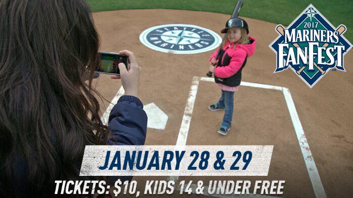 Mariners Fan Fest Weekend –  $10 / Person, Children 14 & Under FREE