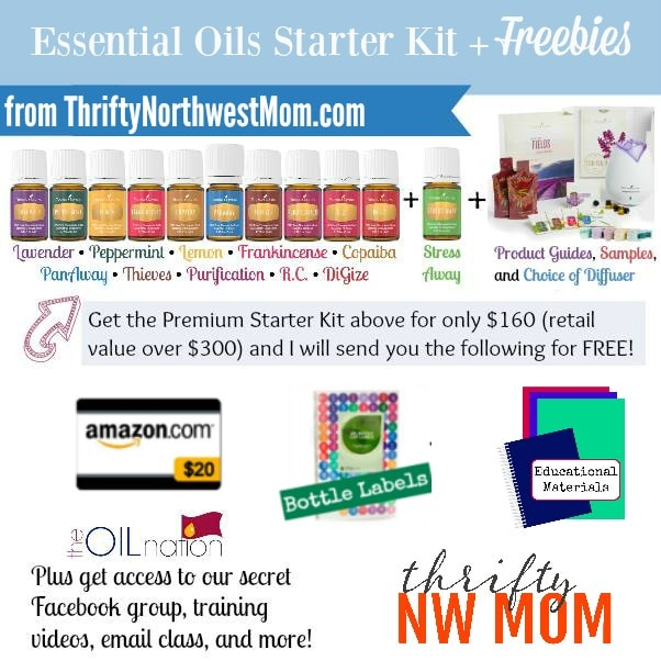 Premium Starter Kit from Young LIving & Thrifty NW Mom